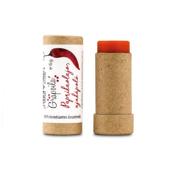 Soin des lèvres à l'huile de piment doux