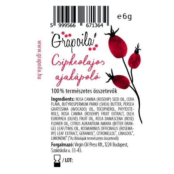 Grapoila Csipkeolajos ajakápoló 6 g