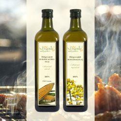 Gebinde zum Kochen und Braten: Rapskernöl und Maiskeimöl