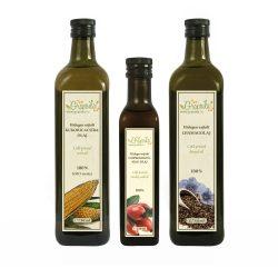 Auswahl drei verschiedener Öle