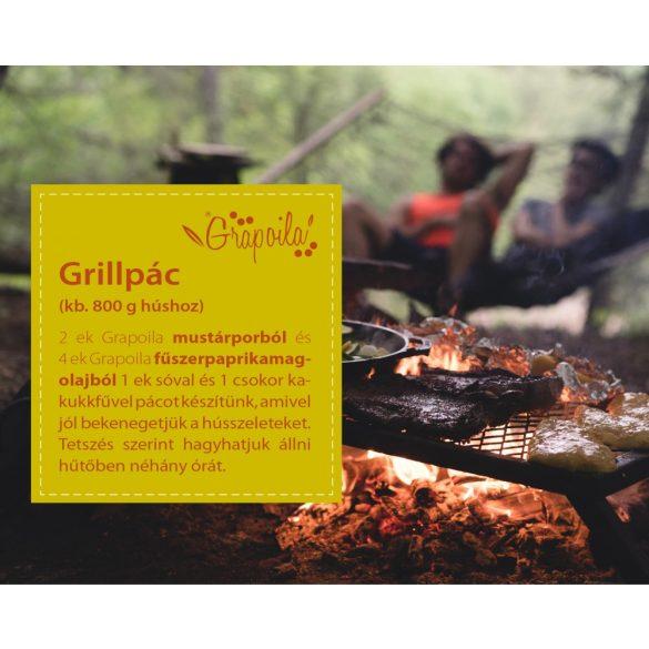 Grillcsomag - ajándék mustárporral (fűszerpaprikamag-olaj, repcemagolaj + mustármagliszt)