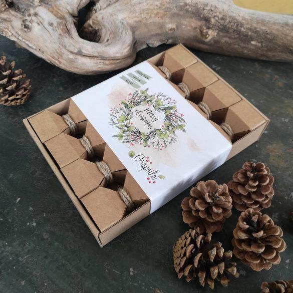 """Coffret cadeau Grapoila """"Christmas Crackers"""", sélection d'huiles gagnantes Great Taste 2020 4 x 40 ml"""