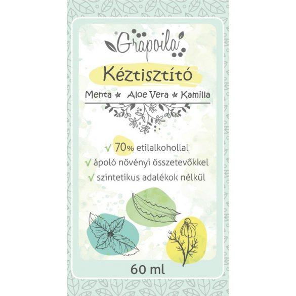 Kéztisztító folyadék menta, aloe vera, kamilla 60 ml