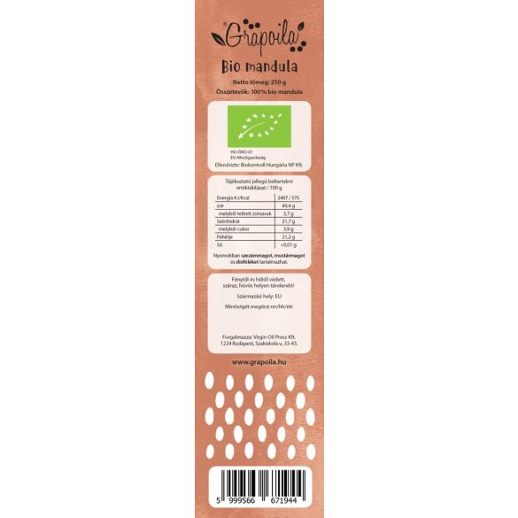 ORGANIC Almonds (blanched) 250 g