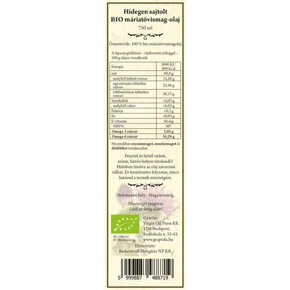 BIO Mariendistelöl 750 ml