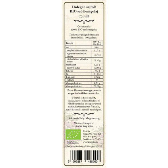 Traubenkernöl BIO 250 ml