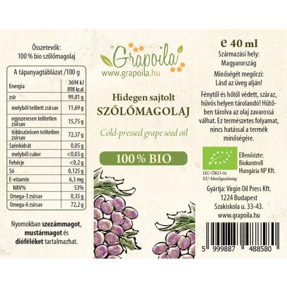 Grapeseed oil ORGANIC 40 ml