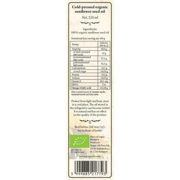 Sonnenblumen-Kernöl BIO 250 ml
