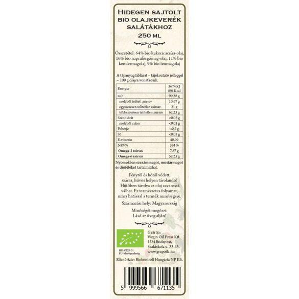 Salad Oil ORGANIC 250 ml