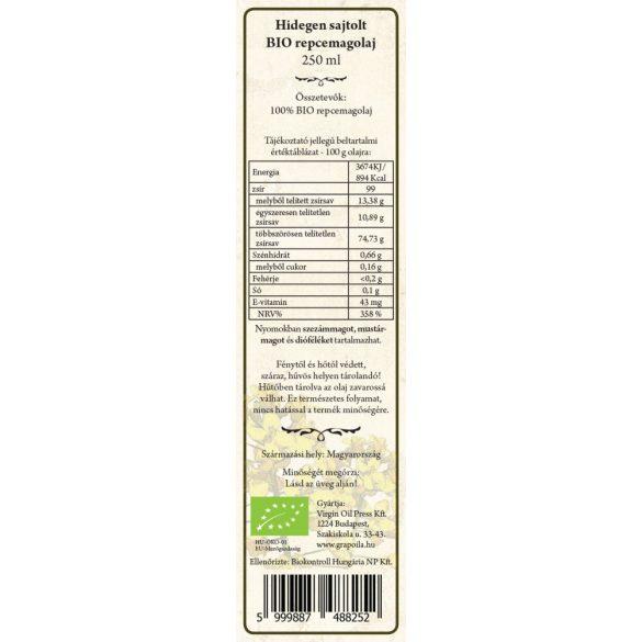 BIO Rapskernöl 250 ml