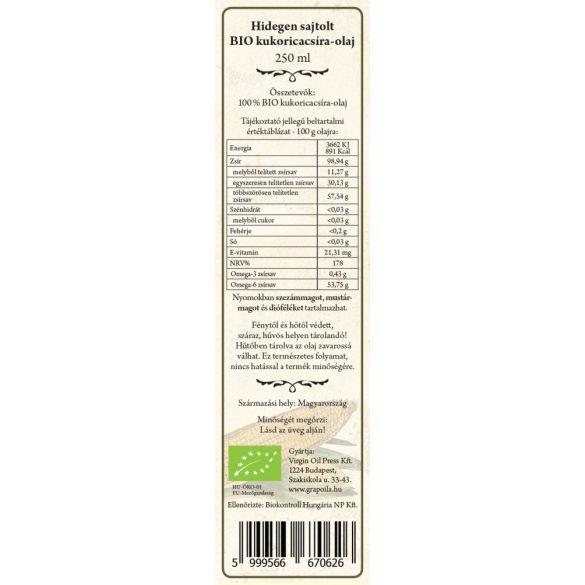 Maiskeimöl BIO 250 ml