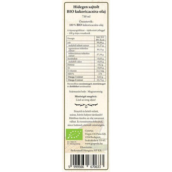 Maiskeimöl BIO 750 ml
