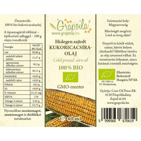 Kukoricacsíra-olaj BIO 40 ml