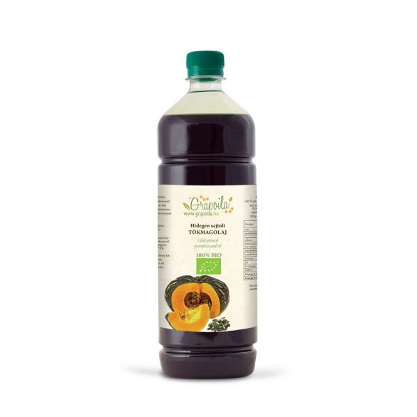 Pumpkin seed oil BIO 1000 ml from unshelled pumpkin seed