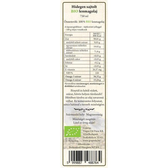 Lenmagolaj BIO 750 ml