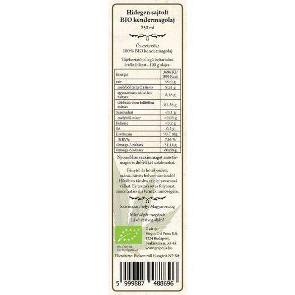 Speisehanf Öl BIO 250 ml