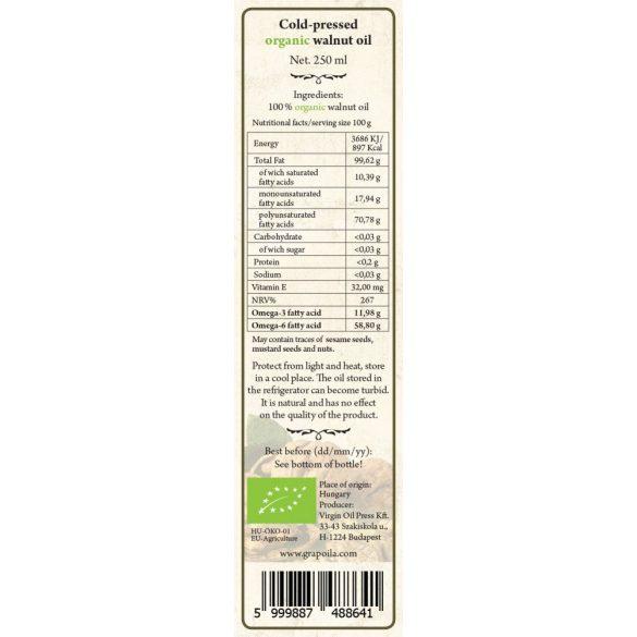 Dióolaj BIO 250 ml