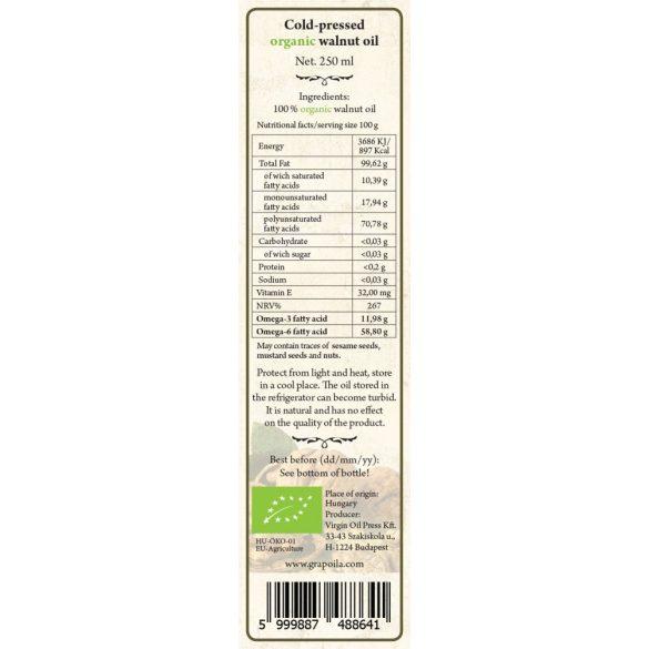 Walnut Oil ORGANIC 250 ml