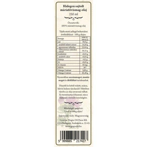Máriatövismag-olaj 250 ml