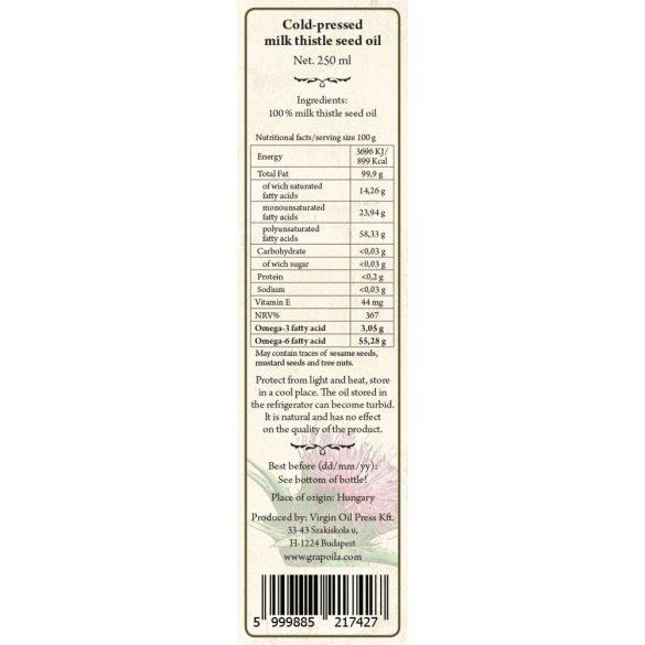 Milk thistle seed oil 250 ml