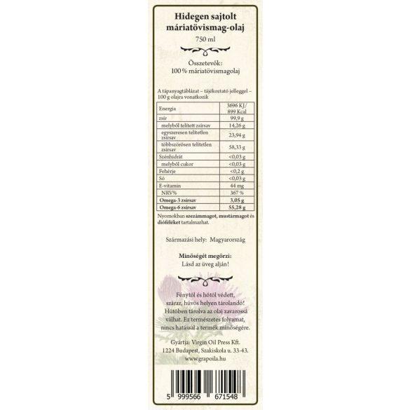 Máriatövismag-olaj 750 ml