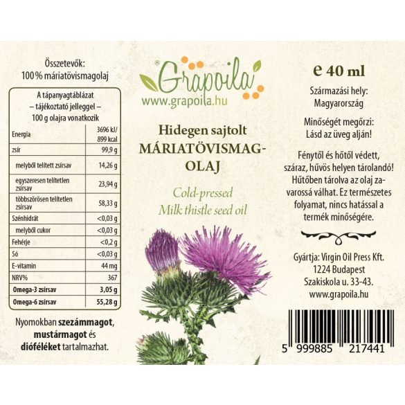 Mariendistelöl 40 ml
