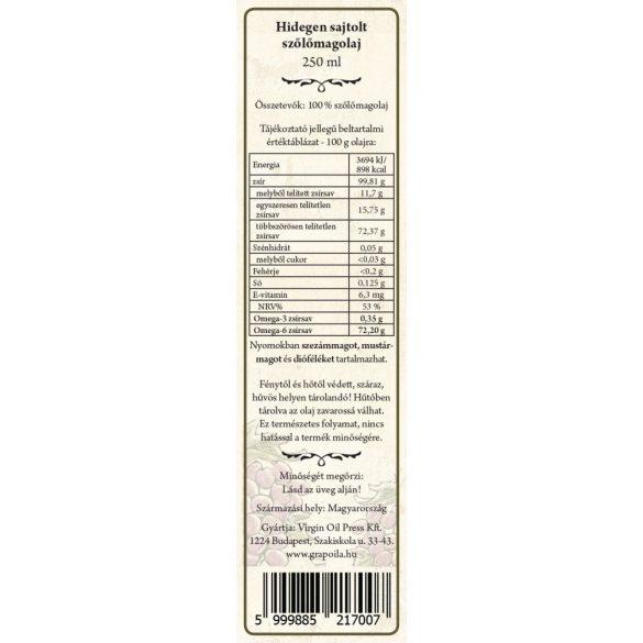 Szőlőmagolaj 250 ml