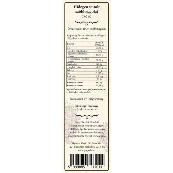 Szőlőmagolaj 750 ml