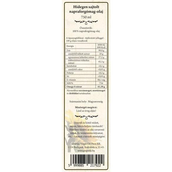 Sonnenblumenöl 750 ml