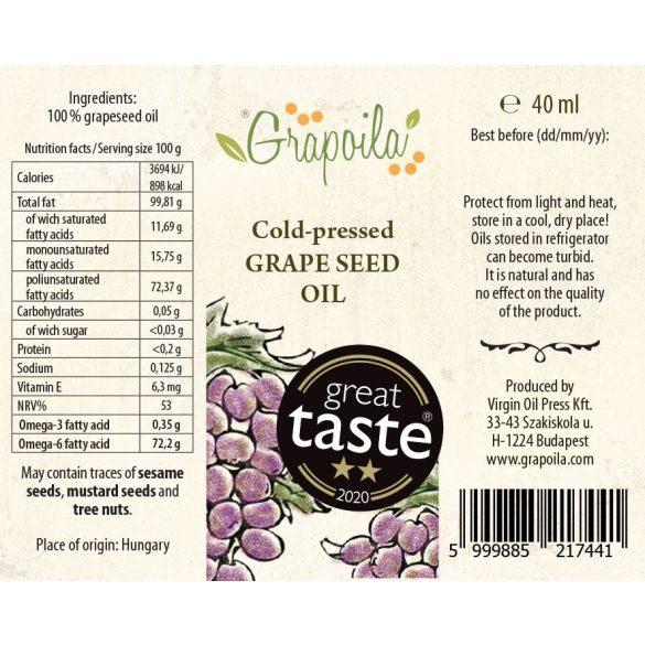 Grapeseed Oil 40 ml