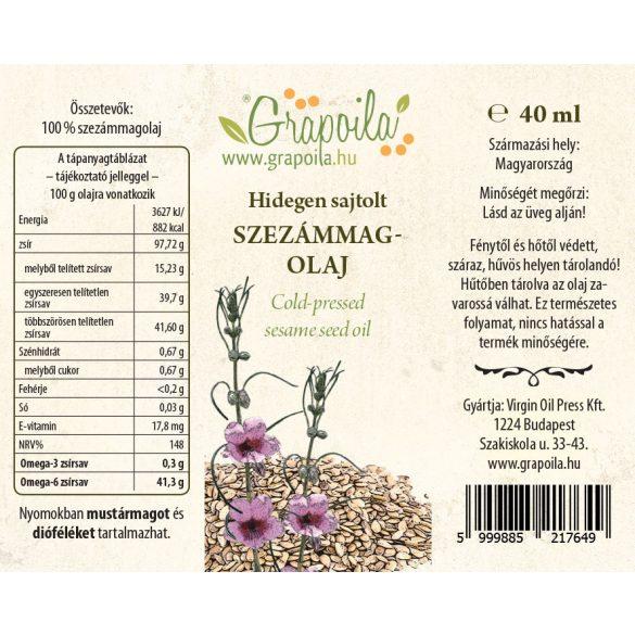 Huile de graines de sésame 40 ml
