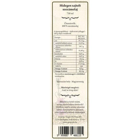 Sesame seed oil 750 ml
