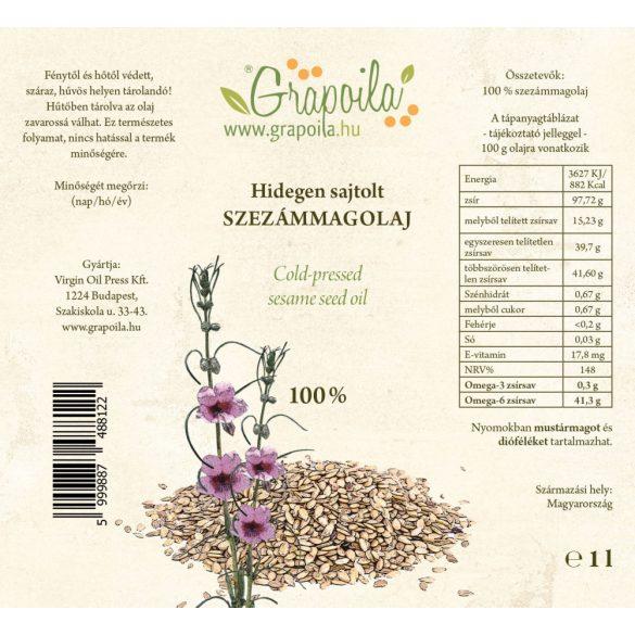 Huile de graines de sésame - 1000 ml PET