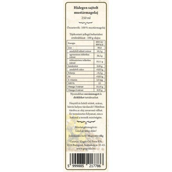 Mustármagolaj 250 ml
