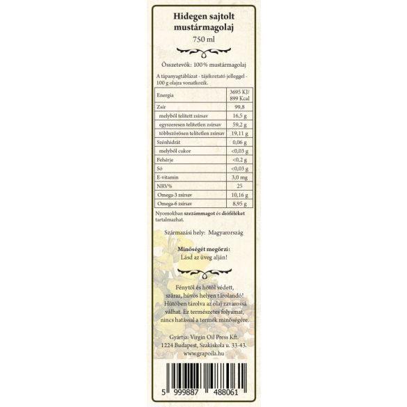 Mustármagolaj 750 ml