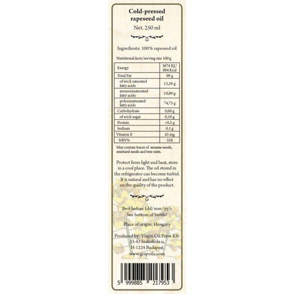 Rapskernöl 250 ml