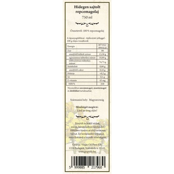 Repcemagolaj 750 ml