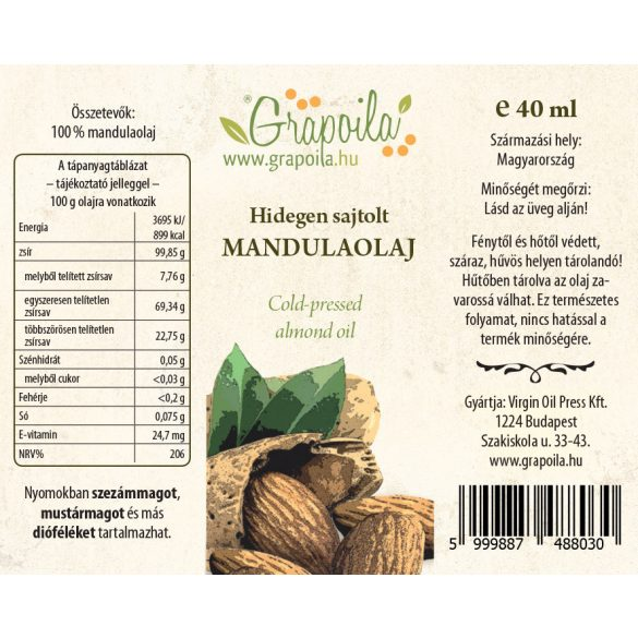 Almond oil 40 ml