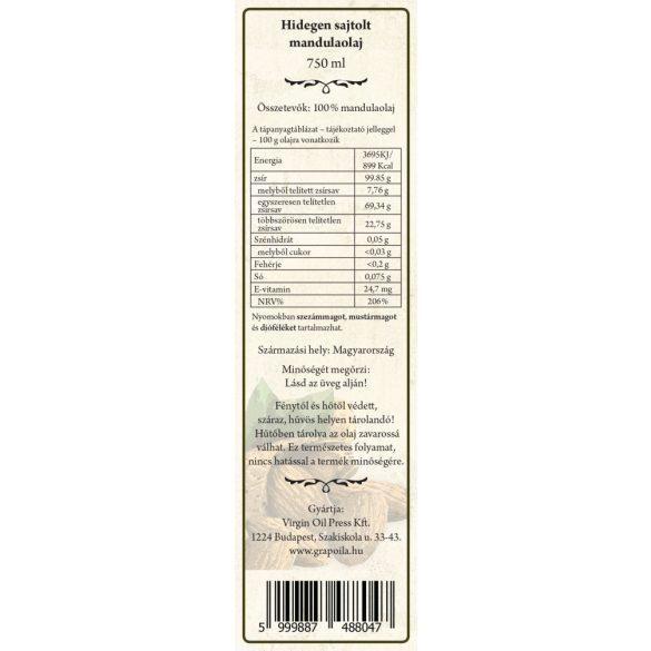 Mandulaolaj 750 ml