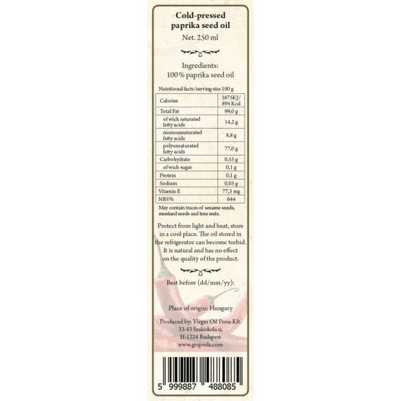 Fűszerpaprikamag-olaj 250 ml