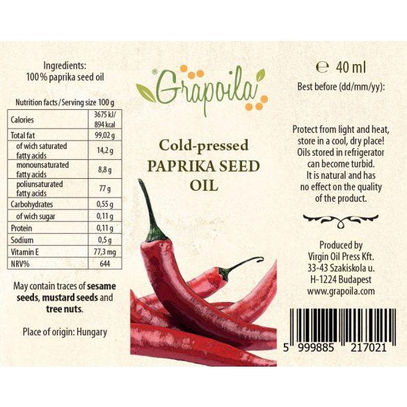 Paprika seed oil 40 ml