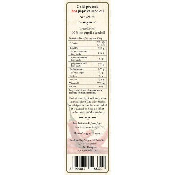 scharfes Paprika-Kernöl 250 ml