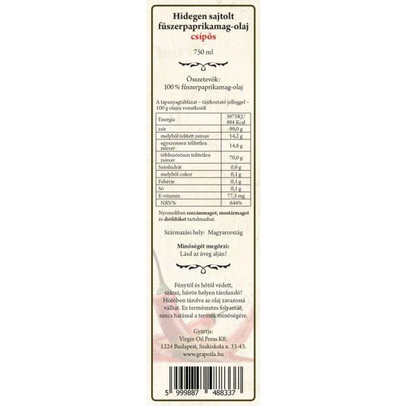 Fűszerpaprikamag-olaj csípős 750 ml