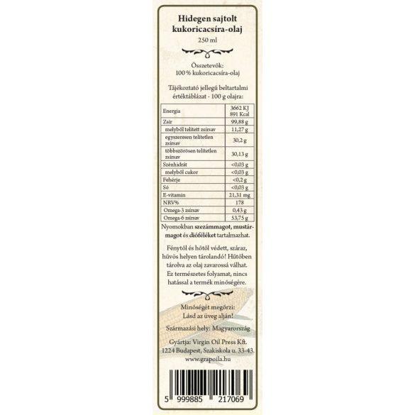 Kukoricacsíra-olaj 250 ml