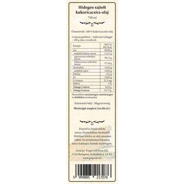 Kukoricacsíra-olaj 750 ml