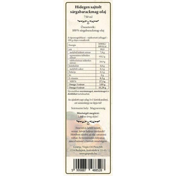 Sárgabarackmag-olaj 750 ml