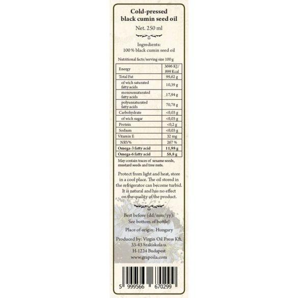 Black Cumin Seed Oil 250 ml