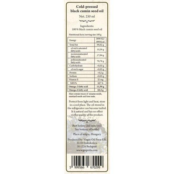 Feketeköménymag-olaj 250 ml