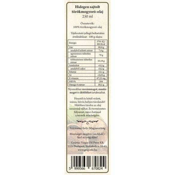 Törökmogyoró-olaj 250 ml
