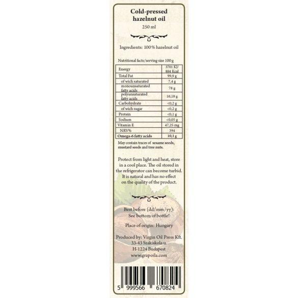 Mogyoróolaj 250 ml